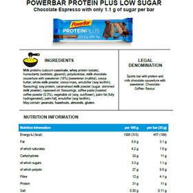 PowerBar ProteinPlus Low Sugar Urheiluravinto Chocolate Espresso 30 x 35g